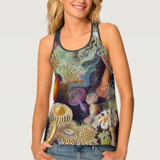 Camiseta De Tirantes Anémonas de mar subacuáticas del vintage de Ernst