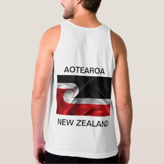 Camiseta De Tirantes Aotearoa Nueva Zelanda de la bandera de Tino