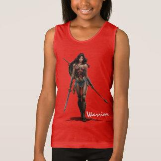 Camiseta De Tirantes Arte cómico Batalla-Listo de la Mujer Maravilla