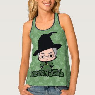 Camiseta De Tirantes Arte del personaje de dibujos animados de profesor