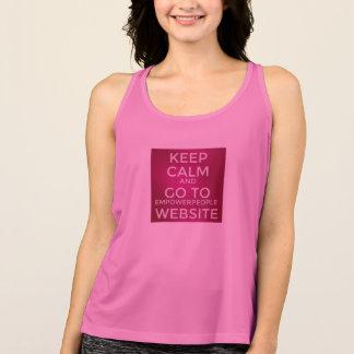 Camiseta De Tirantes Autorizando el desgaste activo de la gente