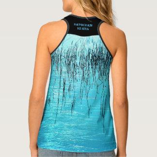 Camiseta De Tirantes Azules de Bayocean por Aleta