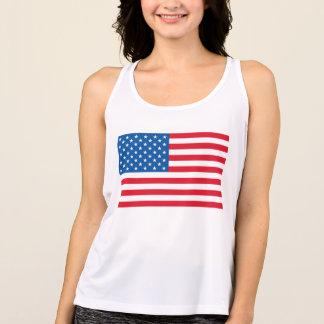 Camiseta De Tirantes Barras y estrellas de la bandera de los E.E.U.U.