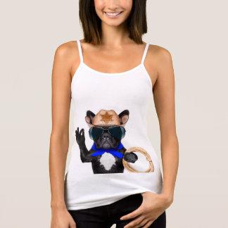 Camiseta De Tirantes barro amasado del vaquero - vaquero del perro