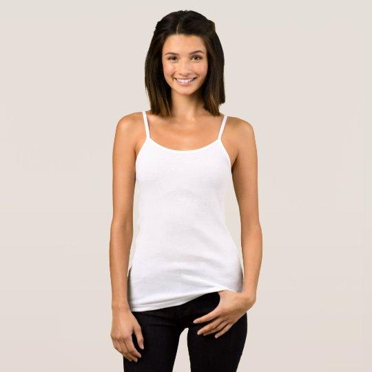 Camiseta de tirantes finos de Bella+Canvas para mujer, Blanco
