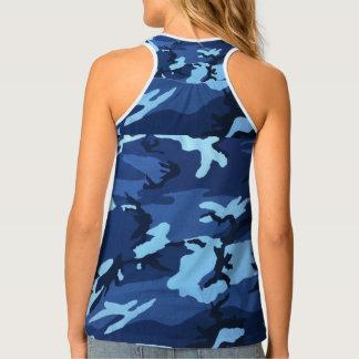 Camiseta De Tirantes Camo azul