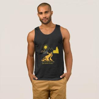 Camiseta De Tirantes Chaleco del negro de las montañas y de las bicis