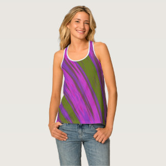 Camiseta De Tirantes Chasquido púrpura del color verde
