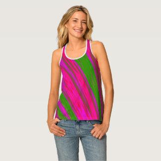 Camiseta De Tirantes Chasquido rosado brillante del color verde