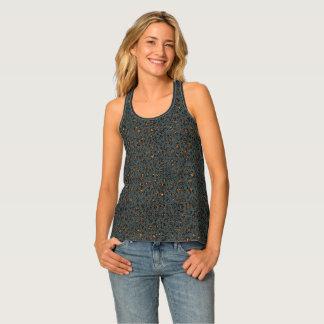 Camiseta De Tirantes Chispa del leopardo (oscura)