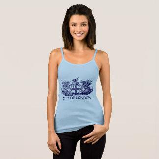 Camiseta De Tirantes Ciudad de Londres, vintage, escudo de armas,