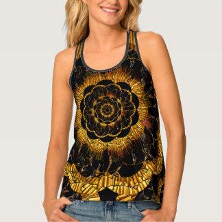 Camiseta De Tirantes Collage retro de la flor de la MOD de la mandala