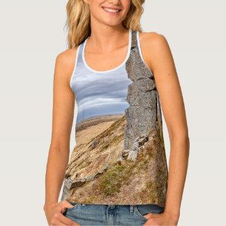 Camiseta De Tirantes Columnas del basalto en Gerduberg Islandia