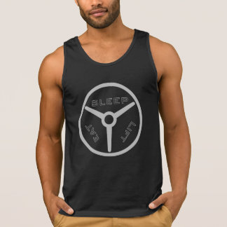 Camiseta De Tirantes Coma la placa de la elevación del sueño