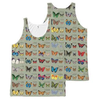 Camiseta De Tirantes Con Estampado Integral 30 especies de la mariposa de alrededor del mundo