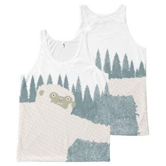 Camiseta De Tirantes Con Estampado Integral Abrazo de Yeti