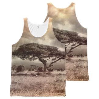 Camiseta De Tirantes Con Estampado Integral África por todas partes