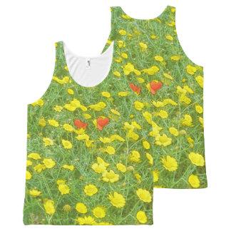 Camiseta De Tirantes Con Estampado Integral Amapolas de la acuarela