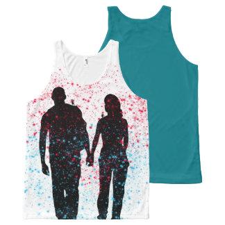 Camiseta De Tirantes Con Estampado Integral Amor encantado