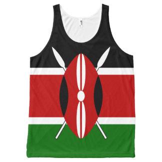 Camiseta De Tirantes Con Estampado Integral Bandera de Kenia