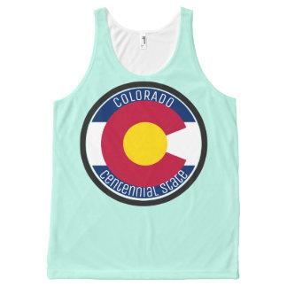 Camiseta De Tirantes Con Estampado Integral Bandera de la circular de Colorado