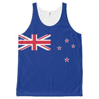 Camiseta De Tirantes Con Estampado Integral Bandera de Nueva Zelanda
