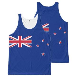 Camiseta De Tirantes Con Estampado Integral Bandera nacional de Nueva Zelanda