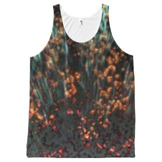 Camiseta De Tirantes Con Estampado Integral Borealis de cobre
