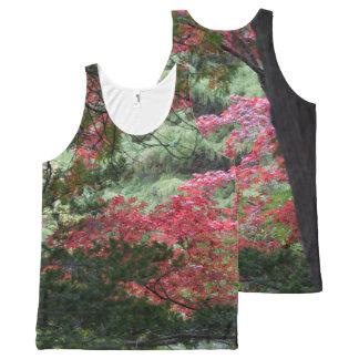 Camiseta De Tirantes Con Estampado Integral Bosque del otoño