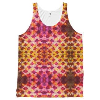Camiseta De Tirantes Con Estampado Integral Brights del batik del Grunge