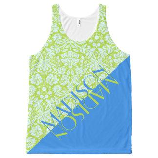 Camiseta De Tirantes Con Estampado Integral Cal de moda de la moda del centro turístico del