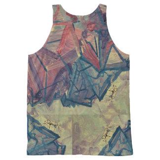 Camiseta De Tirantes Con Estampado Integral Camisa de la escalada
