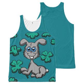 Camiseta De Tirantes Con Estampado Integral Camisa del conejito del día de St Patrick