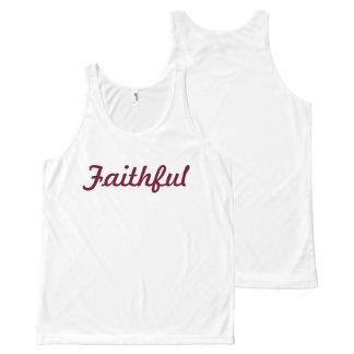Camiseta De Tirantes Con Estampado Integral Camisa fiel