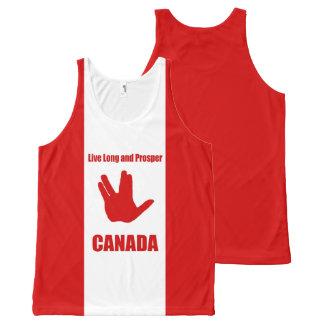 Camiseta De Tirantes Con Estampado Integral Canadá largo vivo por todas partes