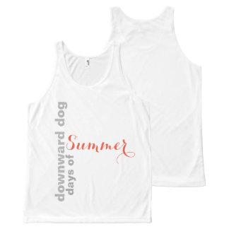 Camiseta De Tirantes Con Estampado Integral Canículas hacia abajo del verano