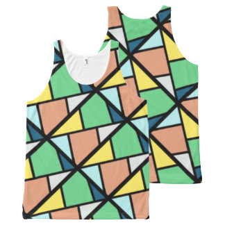 Camiseta De Tirantes Con Estampado Integral Chaleco colorido