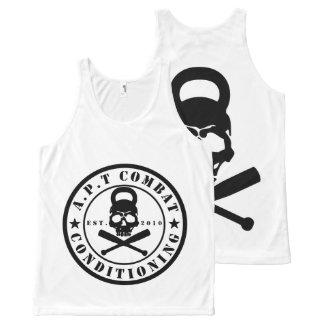 Camiseta De Tirantes Con Estampado Integral Chaleco del entrenamiento del logotipo