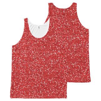 Camiseta De Tirantes Con Estampado Integral chispas del rojo