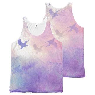 Camiseta De Tirantes Con Estampado Integral Cielo del colibrí