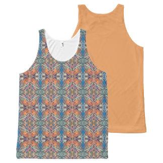 Camiseta De Tirantes Con Estampado Integral Círculos aztecas
