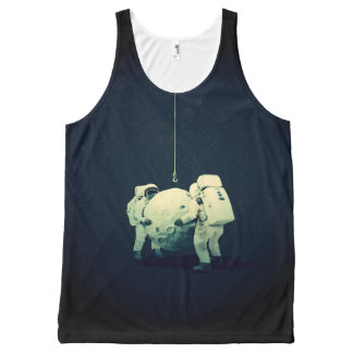 Camiseta De Tirantes Con Estampado Integral colgante de la luna