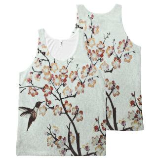Camiseta De Tirantes Con Estampado Integral colibrí