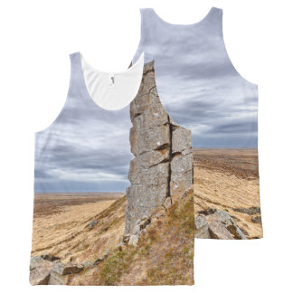 Camiseta De Tirantes Con Estampado Integral Columnas del basalto en Gerduberg Islandia