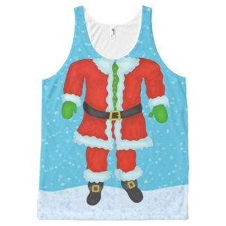 Camiseta De Tirantes Con Estampado Integral Día de fiesta divertido del navidad de la novedad