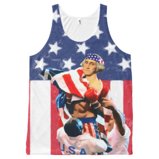 Camiseta De Tirantes Con Estampado Integral Día de la Independencia de George Washington