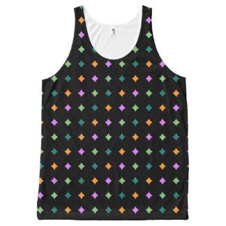 Camiseta De Tirantes Con Estampado Integral Diamantes de neón