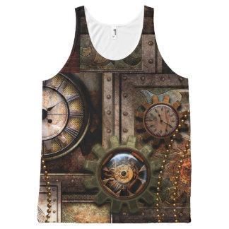Camiseta De Tirantes Con Estampado Integral Diseño maravilloso del steampunk