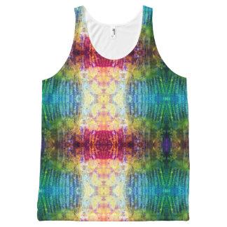 Camiseta De Tirantes Con Estampado Integral el amor entintó grunge