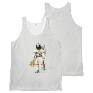 Camiseta De Tirantes Con Estampado Integral El espacio puede ser un lugar solo